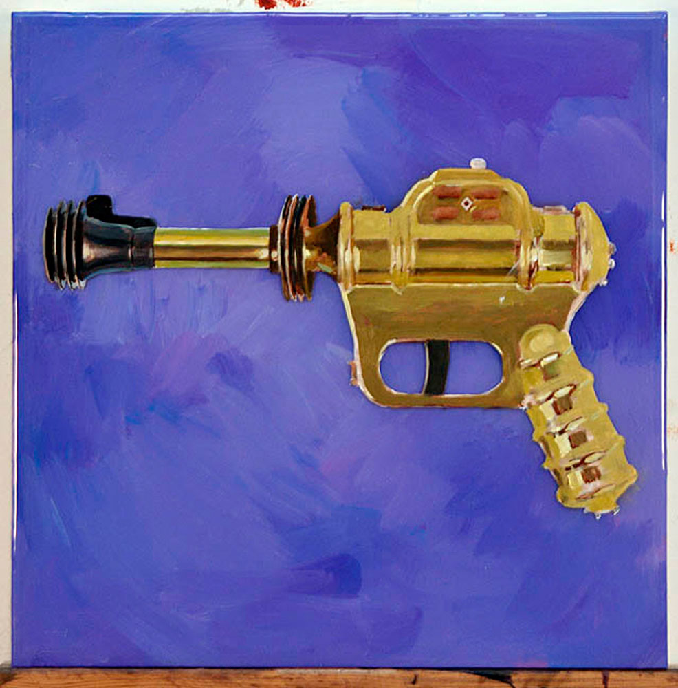 Space Gun (Oil & Resin Layers)