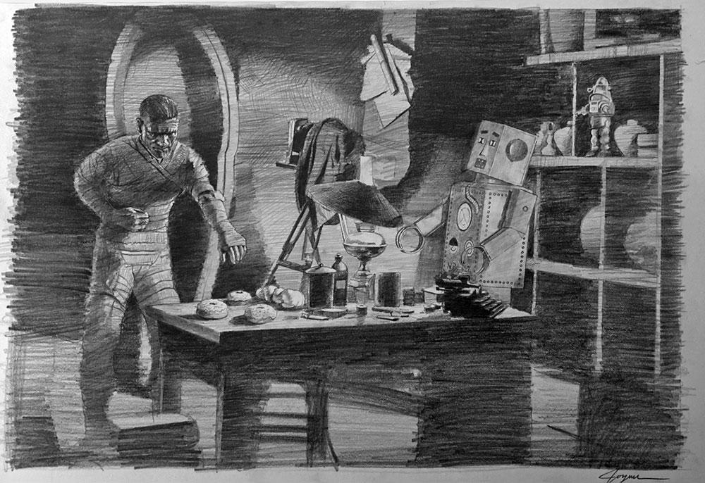 The Mummy (Sketch)