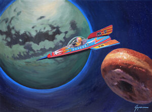Orbiting Titan