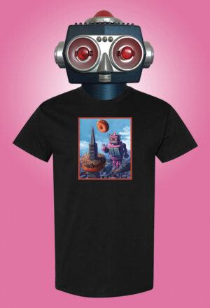 Robot R&R Eric Joyner Art T-shirt