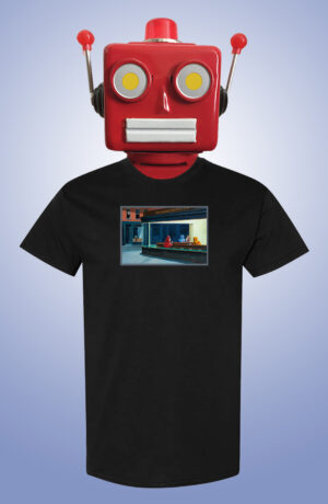 Robo Hawks Eric Joyner Art T-Shirt Front
